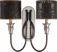 Jeremiah 28162-HIBNK Preston Hollow Hammered Iron/Brushed Nickel Wall Lighting Sconce