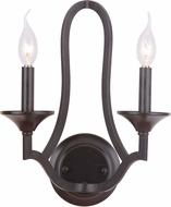 Jeremiah 40262-MBK Gabriella Matte Black Wall Light Sconce