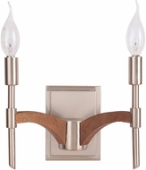 Jeremiah 40362-BNKWB Tahoe Brushed Nickel / Whiskey Barrel Wall Sconce Light