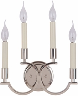 Jeremiah 40464-PLN Crescent Polished Nickel Wall Lighting