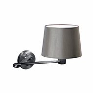 Jesco WS616SW Clubroom Contemporary Satin Nickel Finish 10.625  Tall Bedside Lamp