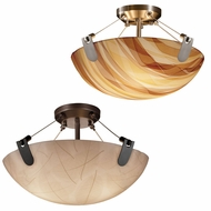 Justice Design 3FRM-9611 3form U-Clips 21  Wide Flush Mount Light Fixture
