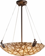 Justice Design 3FRM-9621 3form U-Clips 21  Wide Lighting Pendant