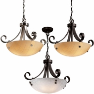 Justice Design 3FRM-9741 3form Scrolls w/ Finials 24  Wide Drop Lighting