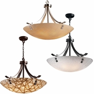 Justice Design 3FRM-9752 3form Flat Bars w/ Finials 22  Tall Ceiling Pendant Light