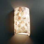 Justice Design ALR-5541 Alabaster Rocks!� 8  Wide Wall Sconce