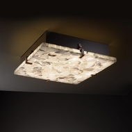 Justice Design ALR-5558 Alabaster Rocks!� 4  Tall Ceiling Lighting Fixture