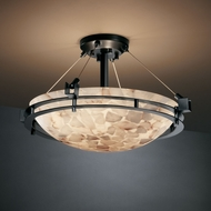 Justice Design ALR-8111 Alabaster Rocks!� 12  Tall Overhead Lighting