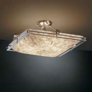 Justice Design ALR-8132 Alabaster Rocks!� 28  Wide Flush Mount Light Fixture