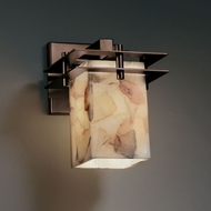 Justice Design ALR-8171 Alabaster Rocks!� 8.25  Tall Sconce Lighting