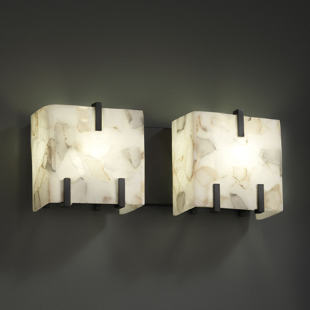 ... ALR-8872 Alabaster Rocks! Modern 2-Light Bathroom Lighting Fixture