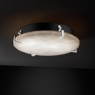 Justice Design CLD-5548 Clouds� 4  Tall Flush Mount Ceiling Light Fixture