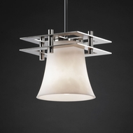 Justice Design CLD-8165 Clouds� 7.5 Tall Mini Hanging Light
