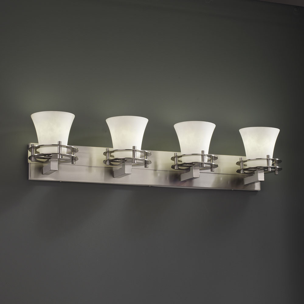 Design CLD8274 Clouds Modern 4Light Bathroom Vanity Light Fixture
