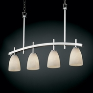 Justice Design CLD-8599 Clouds� 4  Wide Island Light Fixture