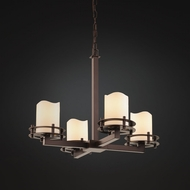 Justice Design CNDL-8200 CandleAria Contemporary Lighting Chandelier