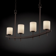 Justice Design CNDL-8595 CandleAria� Faux Candle 4  Wide Kitchen Island Light Fixture