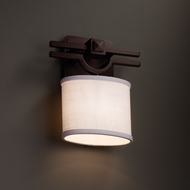Justice Design FAB-8507 Argyle Textile ADA Compliant Wall Lighting