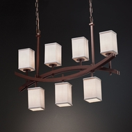 Justice Design FAB-8598 Archway Textile Island Lighting