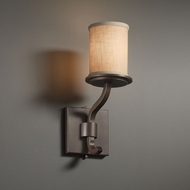 Justice Design FAB-8781 Sonoma Textile Light Sconce