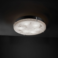 Justice Design FAL-5545 LumenAria� Faux Alabaster 4  Tall Ceiling Light Fixture