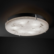 Justice Design FAL-5548-FM LumenAria� Faux Alabaster 4  Tall Flush Mount Lighting