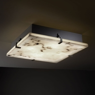 Justice Design FAL-5558-FM LumenAria� Faux Alabaster 4  Tall Overhead Lighting