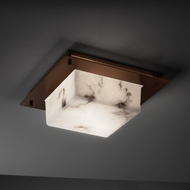 Justice Design FAL-5565-FM LumenAria� Faux Alabaster 4  Tall Flush Mount Light Fixture