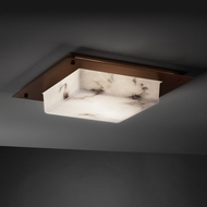 Justice Design FAL-5568 LumenAria� Faux Alabaster 24  Wide Flush Ceiling Light Fixture