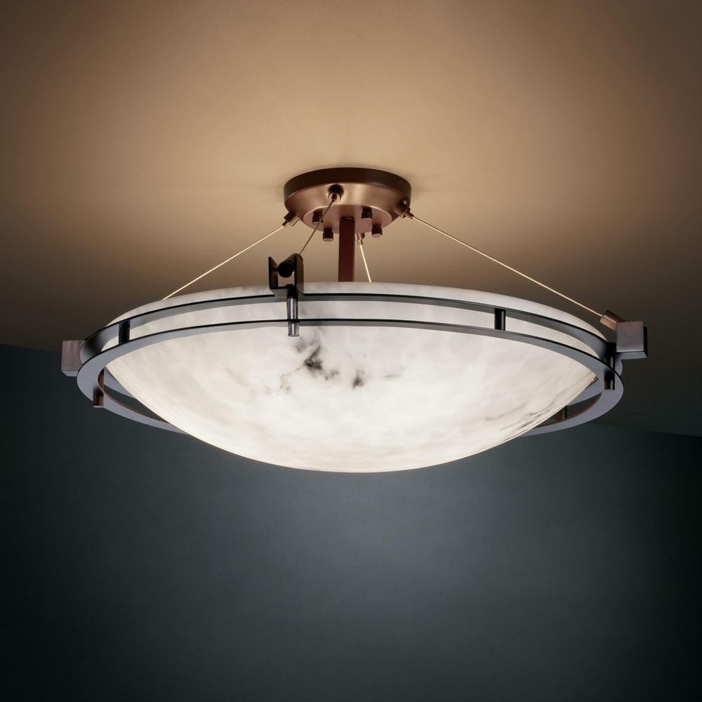 alabaster 28 wide flush mount ceiling light fixture jus fal 8112. Black Bedroom Furniture Sets. Home Design Ideas