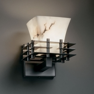 Justice Design FAL-8175 LumenAria� Faux Alabaster 6.5 Wide Wall Sconce Light