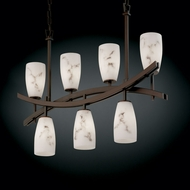 Justice Design FAL-8598 LumenAria� Faux Alabaster 6  Wide Kitchen Island Lighting