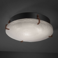 Justice Design FSN-5547-FM Fusion� Artisan Glass 16.5  Wide Ceiling Lighting