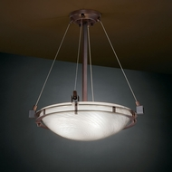 Justice Design FSN-8121 Fusion� Artisan Glass 22  Wide Ceiling Light Fixture