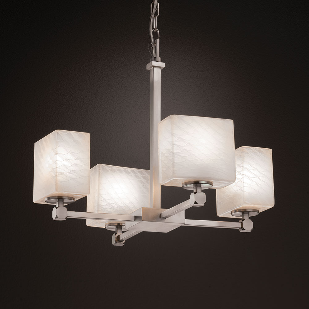 Justice Design Fsn 8420 Tetra Fusion Mini Chandelier Light
