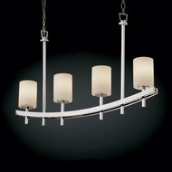 Justice Design FSN-8595 Fusion� Artisan Glass 22  Tall Island Light Fixture