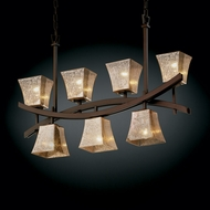 Justice Design FSN-8598 Fusion� Artisan Glass 6  Wide Kitchen Island Light Fixture