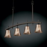 Justice Design FSN-8599 Fusion� Artisan Glass 25  Tall Island Lighting