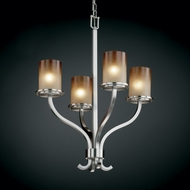Justice Design FSN-8780 Fusion� Artisan Glass 22  Wide Mini Chandelier Light