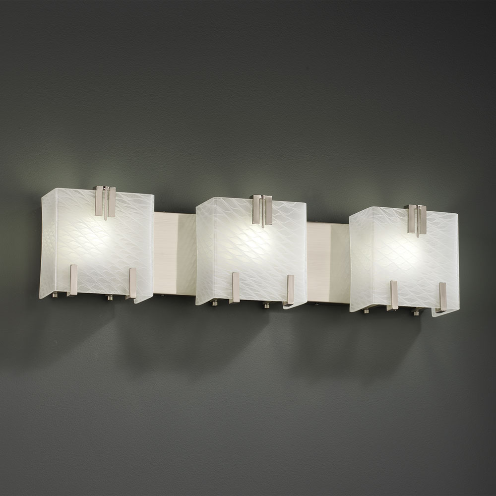 Perfect Nuvo Lighting 602873 Odeon 3 Light Bathroom Light Fixture In Brushed