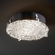 Justice Design GLA-5545-FM Veneto Luce� Venetian Glass 4  Tall Flush Mount Light Fixture