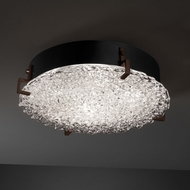 Justice Design GLA-5547-FM Veneto Luce� Venetian Glass 4  Tall Flush Mount Lighting Fixture