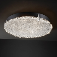 Justice Design GLA-5548-FM Veneto Luce� Venetian Glass 4  Tall Flush Ceiling Light Fixture