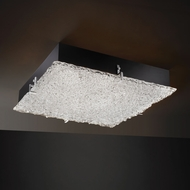 Justice Design GLA-5558 Veneto Luce� Venetian Glass 4  Tall Flush Mount Ceiling Light Fixture