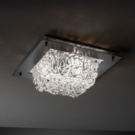 Justice Design GLA-5565-FM Veneto Luce� Venetian Glass 12  Wide Home Ceiling Lighting