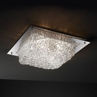 Justice Design GLA-5567-FM Veneto Luce� Venetian Glass 16  Wide Overhead Light Fixture