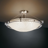 Justice Design GLA-8112 Veneto Luce� Venetian Glass 28  Wide Ceiling Light