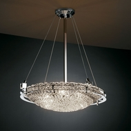 Justice Design GLA-8122 Veneto Luce� Venetian Glass 30  Tall Ceiling Light Fixture