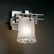 Justice Design GLA-8171 Veneto Luce� Venetian Glass 6.5  Wide Wall Light Sconce