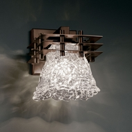 Justice Design GLA-8175 Veneto Luce� Venetian Glass 6.5  Wide Wall Lighting Fixture